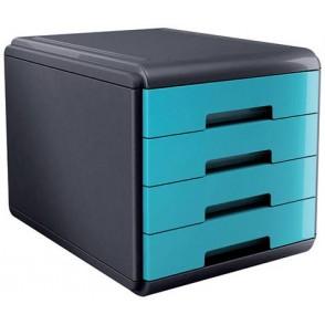 CASSETTIERA Mydesk 4 cassetti - Infrangibile - ColorTURCHESE