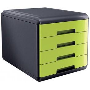 CASSETTIERA Mydesk 4 cassetti - Infrangibile - Colore VERDE