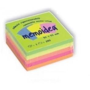 MEMOIDEA 51x51 mm colori neon assortiti - 250 fogli