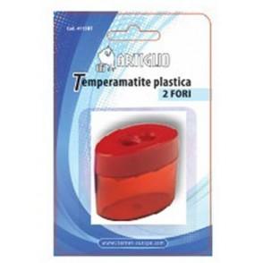 Temperamatite ARTIGLIO 2 fori in plastica con serbatoio
