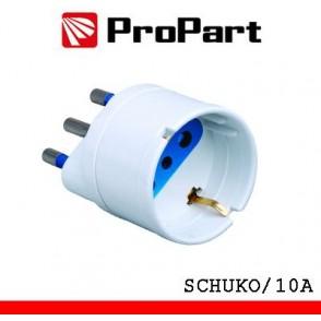 Adattatore schuko spina16A polybag