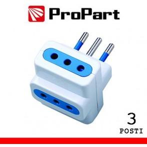 Adattatore 3pos 10A spina10A polybag