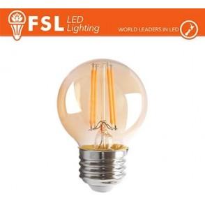 Lampada Sfera Filamento Ambra - 4W 2200K E27 330LM