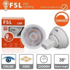GU10 Lampadina LED - 6,5W 4000K 510LM 38° CRI80 Dimmerabile