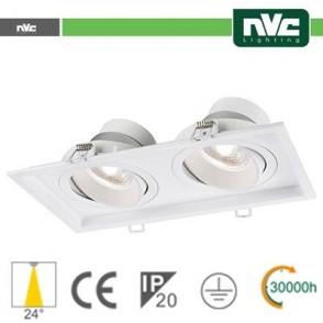 Incasso Multi lampada - 18w (2x9w) 3000k 1440lm 24°