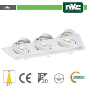 Incasso Multi lampada - 27w (3x9w) 3000k 2160lm 24°