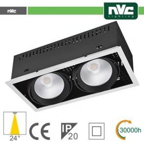 Incasso Multi lampada - 48w(2x24w) 3000k 3500lm24° CRI90