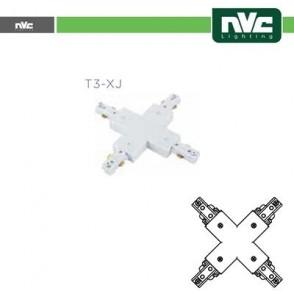 Connettore Forma  X  Binario Monofase - Colore Bianco