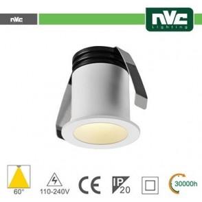 Punto Luce LED 2W 3000K 60° IP20 FORO:35mm