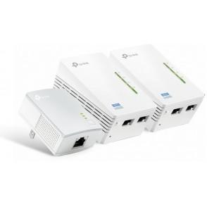 Kit powerline AV600 WiFi 300Mbps 2 Porte LAN (3 Pezzi)