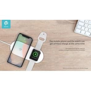 Caricatore Wireless 2 in 1 per iPhone ed Apple Watch 12W