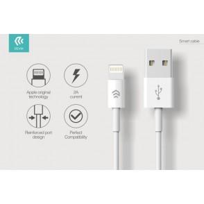 Cavo Dati Carica Lightning iPhone e iPad IOS 1 metro Bianco