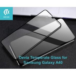 Pellicola di vetro temperato Full Screen Samsung A40 Nera
