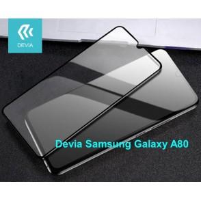 Pellicola vetro temperato Full Screen per Samsung A80 Nera