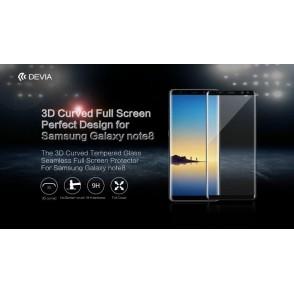 Pellicola in Vetro Temperato Full Screen Samsung Note 8 Nera
