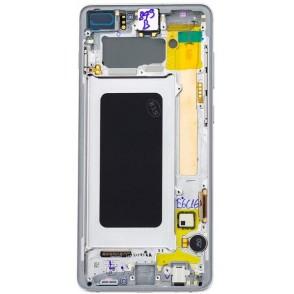 LCD Samsung G975 Galaxy S10 Plus Bianco S. Pack GH82-18849B