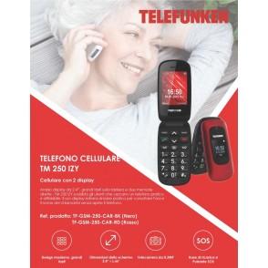Telefono Cellulare TM 250 Rosso Telefunken