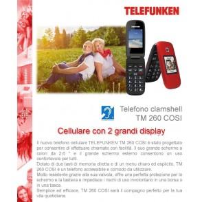 Telefono Cellulare TM 260 Rosso Telefunken