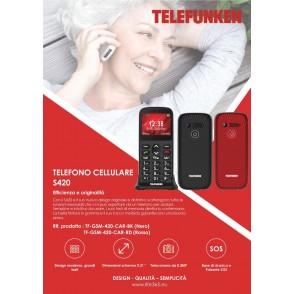 Telefono Cellulare Telefunken S420 con LCD 2.31 Nero