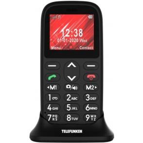 Telefono Telefunken S410 Senior GSM 2G Nero Monoblocco