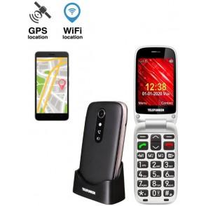 Cellulare Telefunken S540 senior 2G GPS Nero A conchiglia