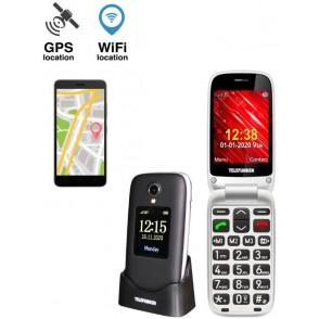 Cellulare Telefunken S560 senior 2G GPS Nero A conchiglia