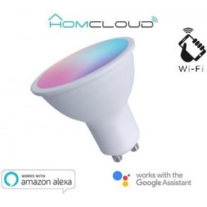 Faretto GU10 ad incasso Wi-FI RGB + Bianco caldo dimmerabile