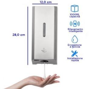 Dispenser automatico a muro, erogazione a goccia - 1 LT